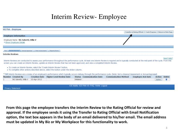 Interim review employee2