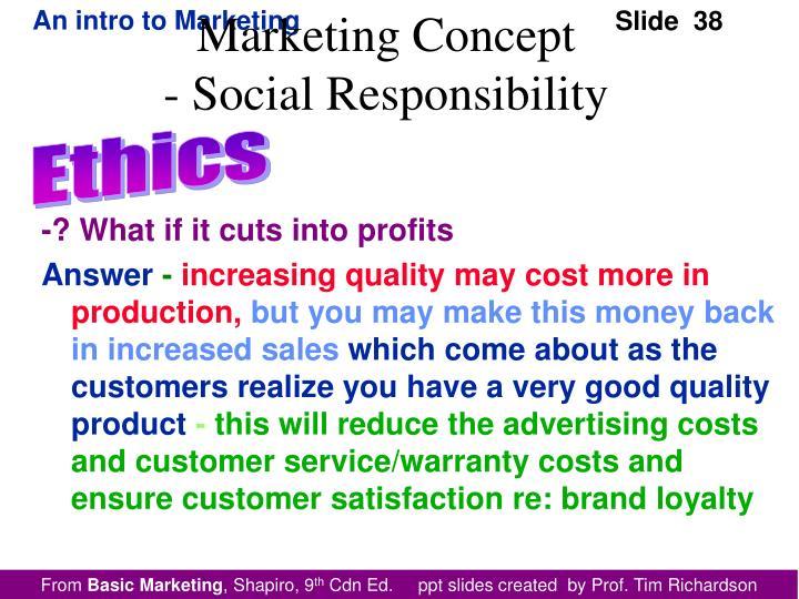 -? What if it cuts into profits