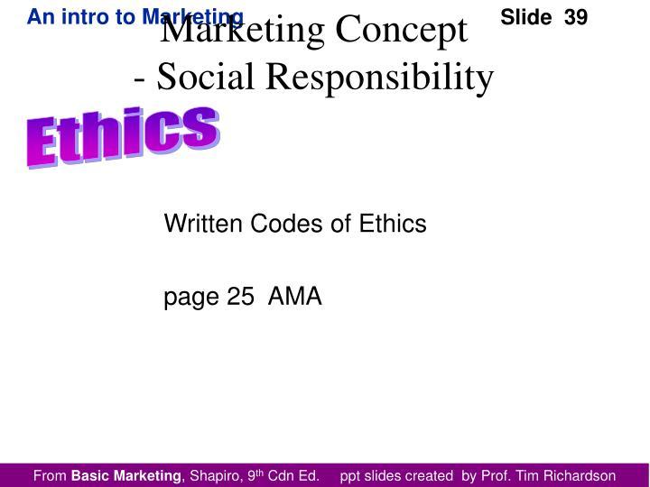Written Codes of Ethics