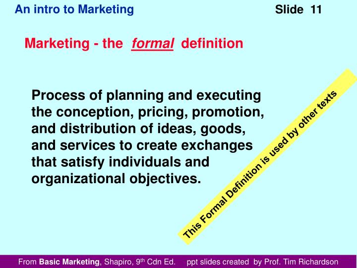 Marketing - the