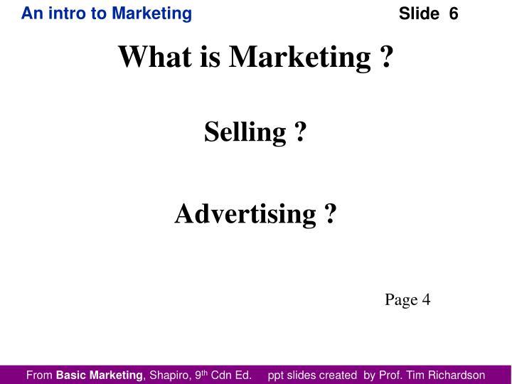 Selling ?