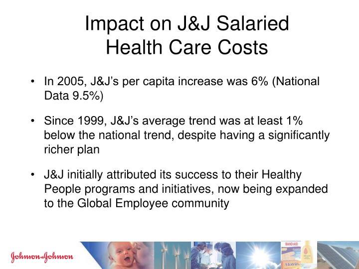 Impact on J&J Salaried