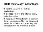 rfid technology advantages