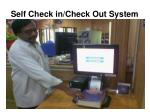 self check in check out system
