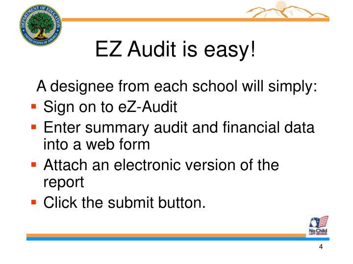EZ Audit is easy!