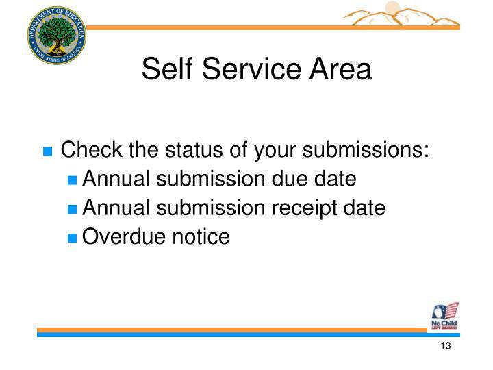 Self Service Area