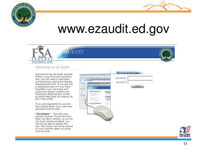 www.ezaudit.ed.gov