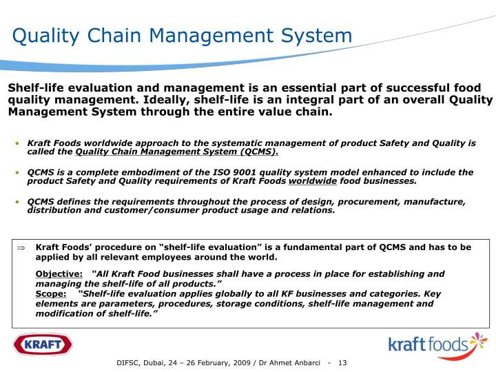 Quality Chain Management System