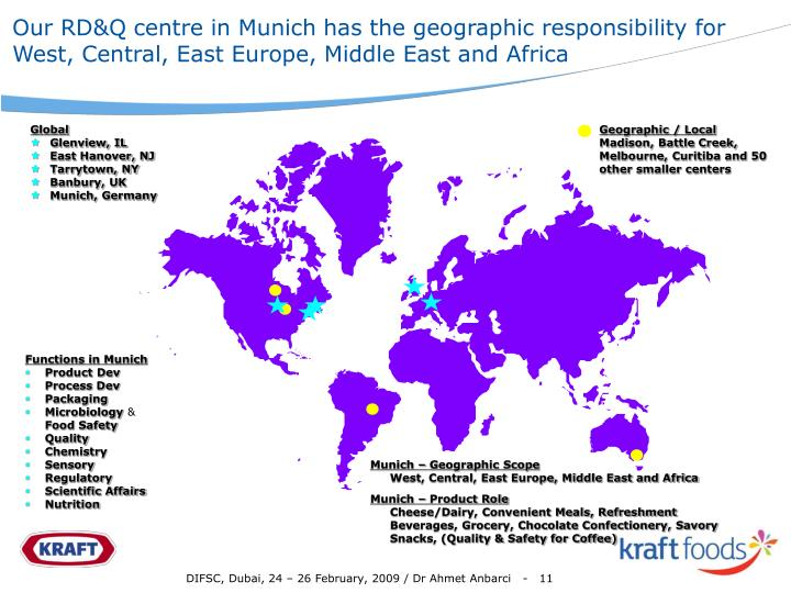 Our RD&Q centre in Munich has the geographic responsibility for West, Central, East Europe, Middle East and Africa