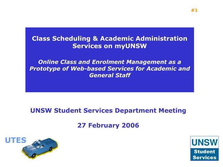 Ppt unsw student services department meeting 27 february 2006 utes toneelgroepblik Images