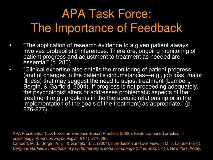APA Task Force: