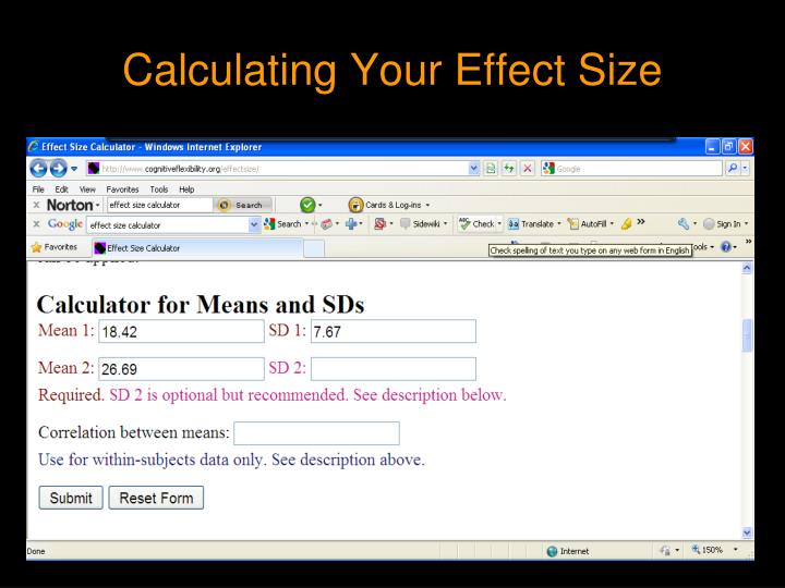 Calculating Your Effect Size
