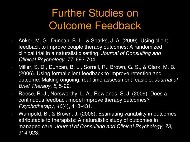 Further Studies on