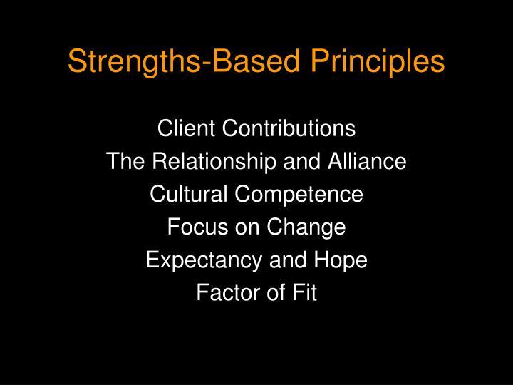 Strengths-Based Principles