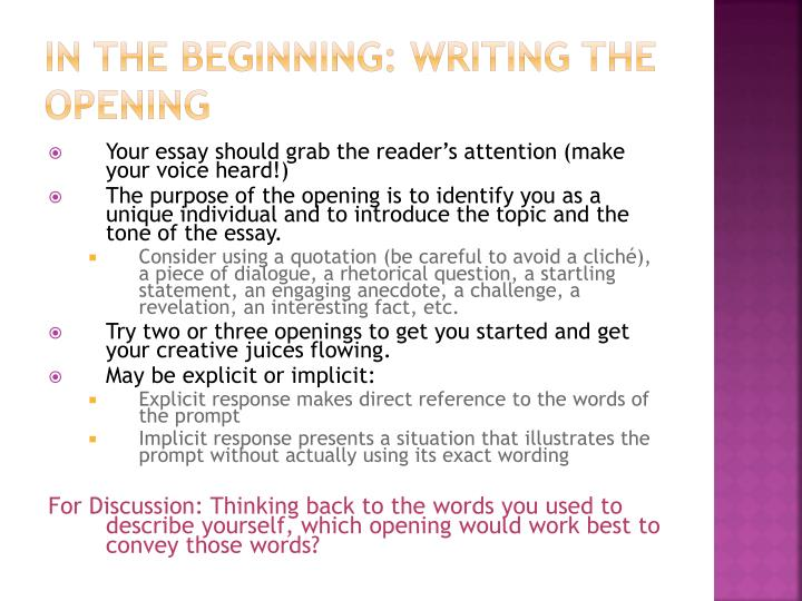 In the Beginning:
