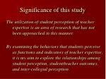 significance of this study