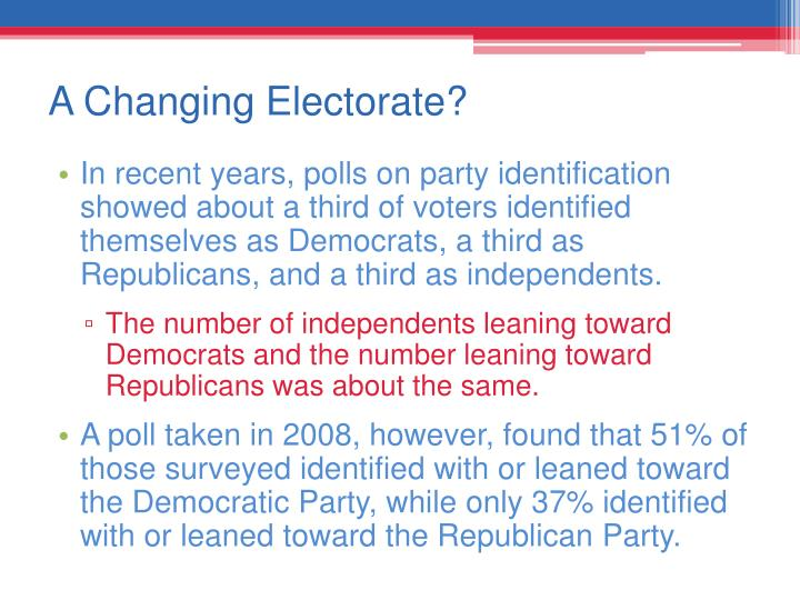 A Changing Electorate?