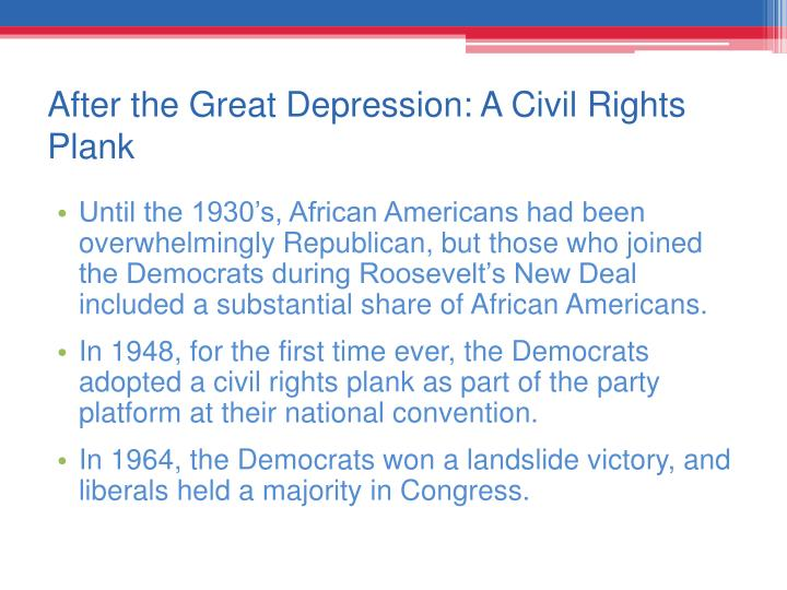After the Great Depression: A Civil Rights Plank