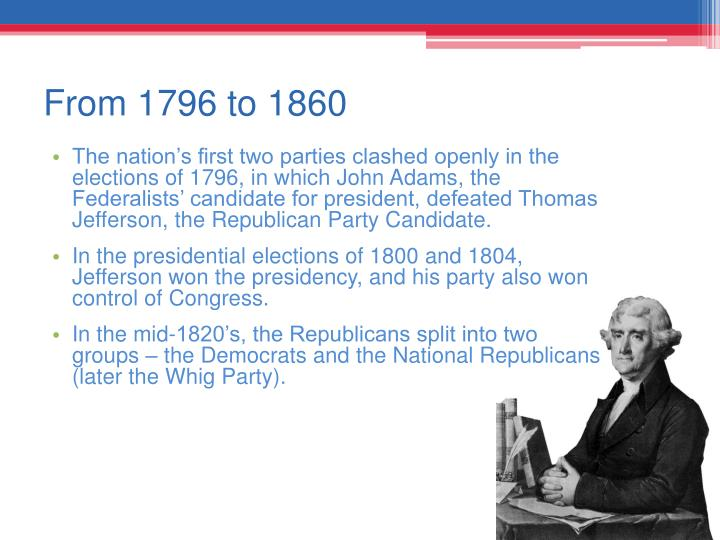 From 1796 to 1860
