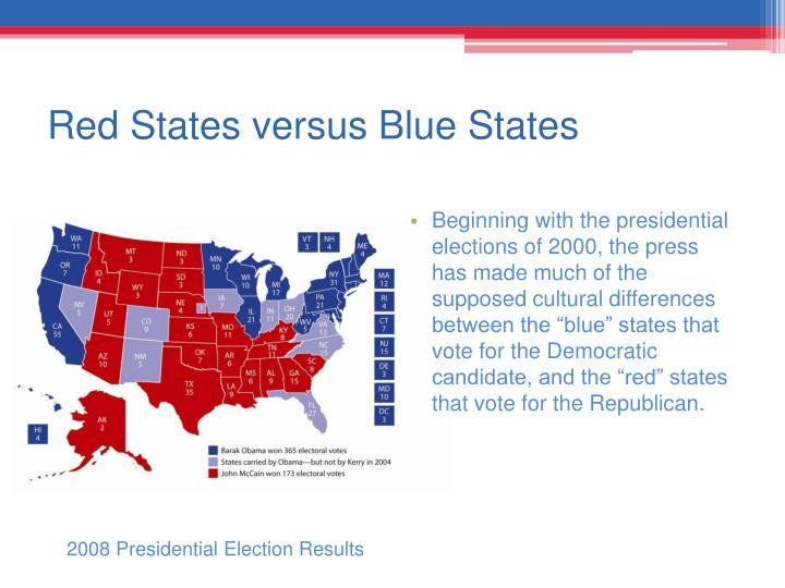 Red States versus Blue States