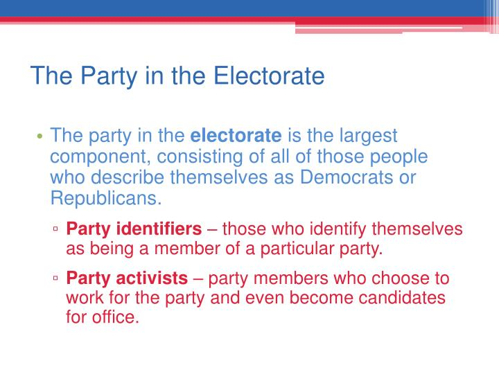 The Party in the Electorate