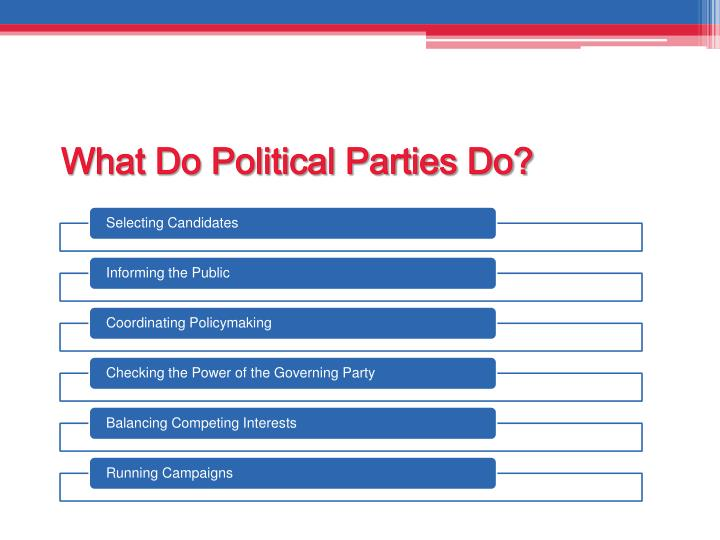 What Do Political Parties Do?