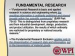 fundamental research