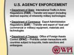 u s agency enforcement