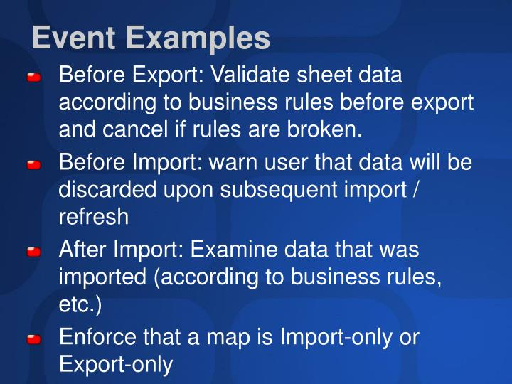 Event Examples