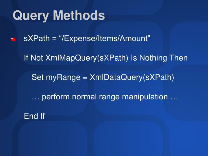 Query Methods