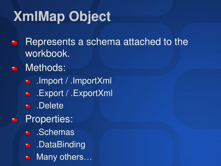 XmlMap Object