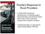 florida s response to rural providers