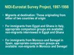 nidi eurostat survey project 1997 19981