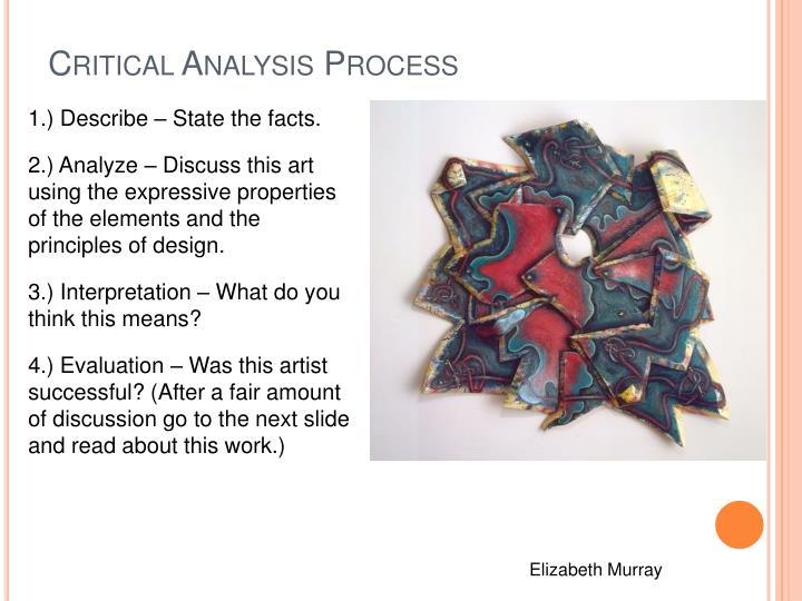 Critical Analysis Process