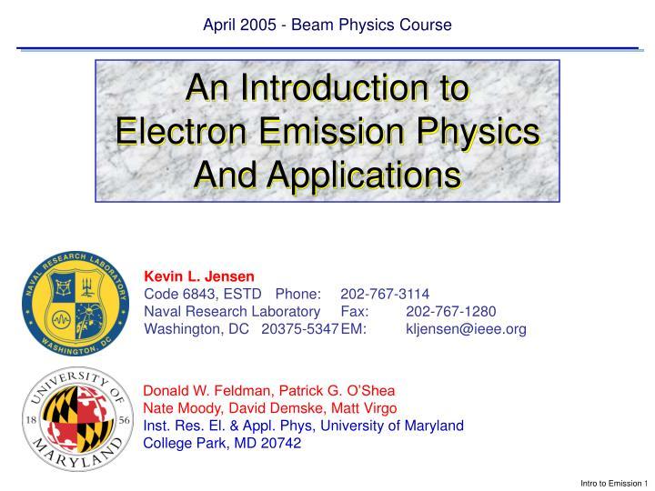 April 2005 beam physics course