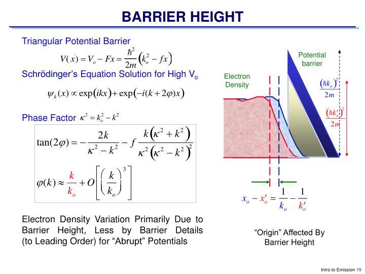 BARRIER HEIGHT