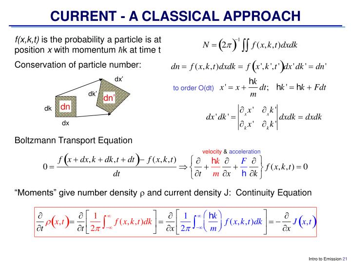 CURRENT - A CLASSICAL APPROACH