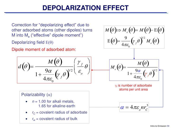 DEPOLARIZATION EFFECT