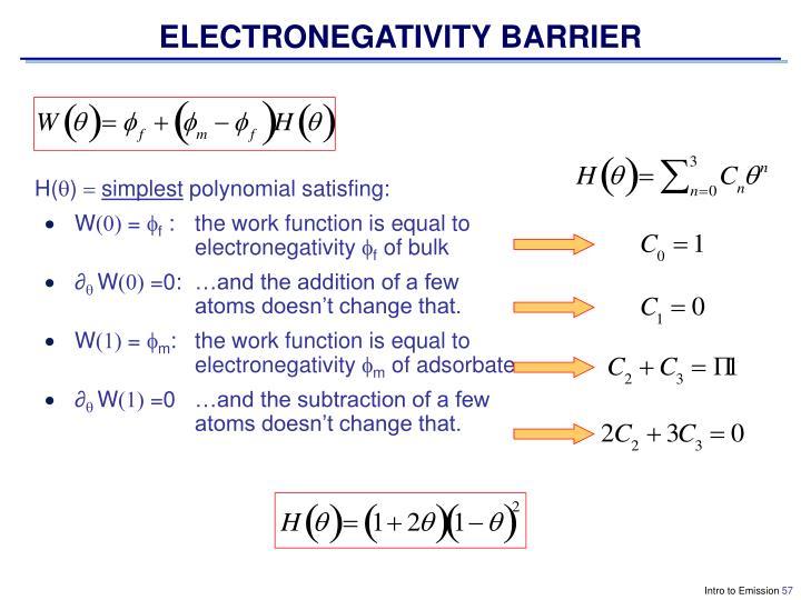 ELECTRONEGATIVITY BARRIER