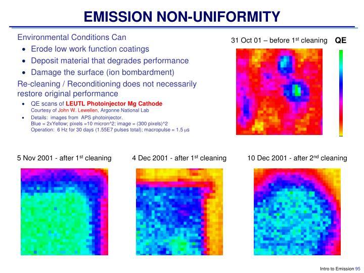 EMISSION NON-UNIFORMITY