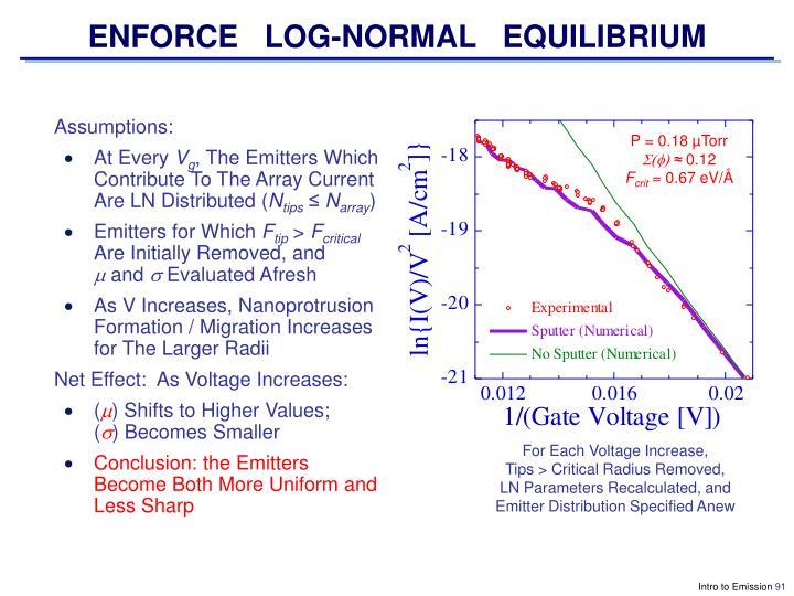ENFORCE   LOG-NORMAL   EQUILIBRIUM