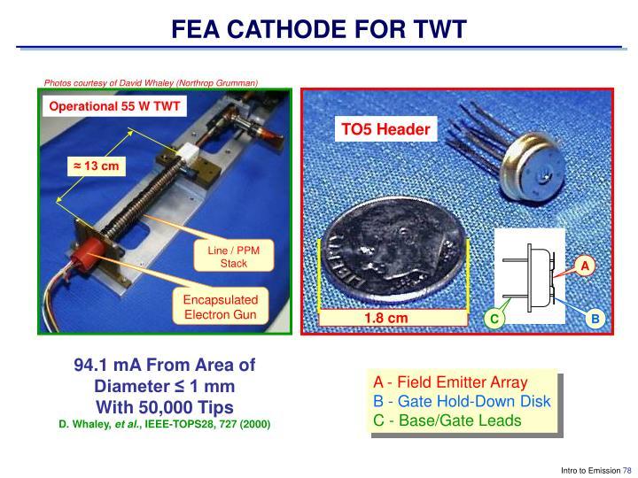 FEA CATHODE FOR TWT