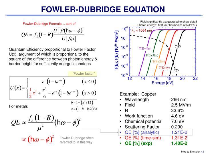FOWLER-DUBRIDGE EQUATION