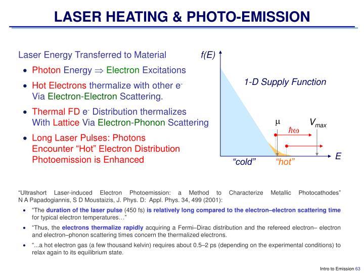LASER HEATING & PHOTO-EMISSION