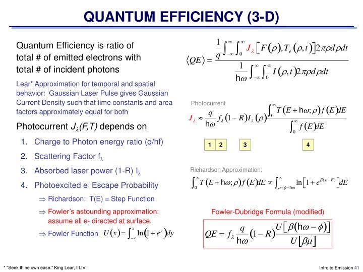 QUANTUM EFFICIENCY (3-D)