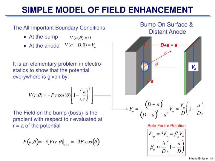 SIMPLE MODEL OF FIELD ENHANCEMENT
