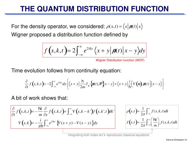 THE QUANTUM DISTRIBUTION FUNCTION