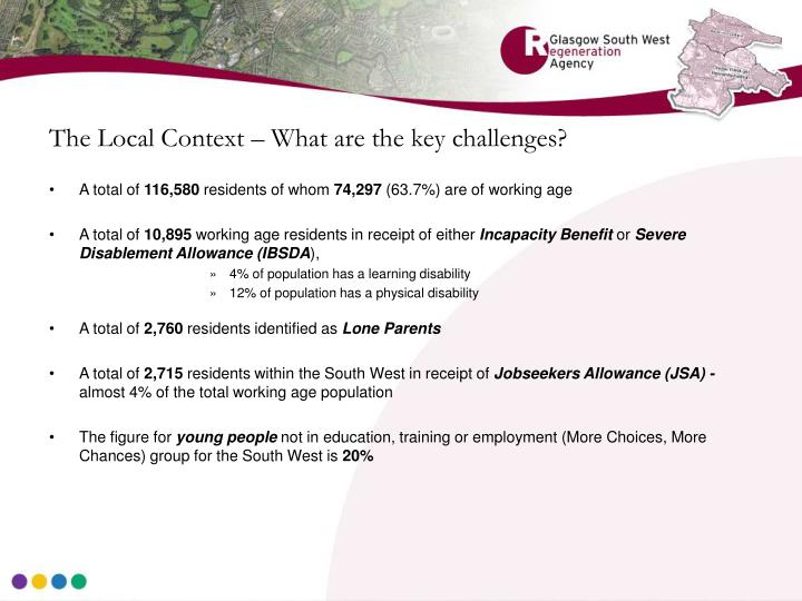 The Local Context – What are the key challenges?