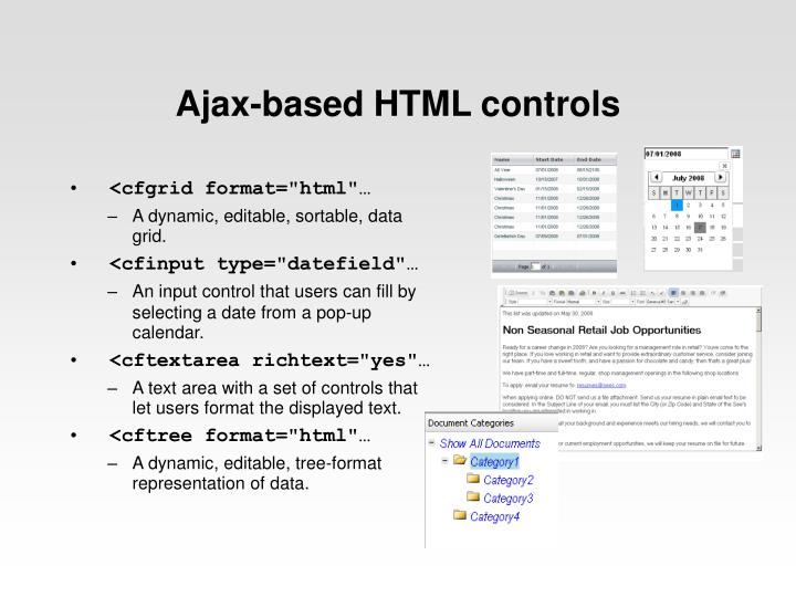 Ajax-based HTML controls