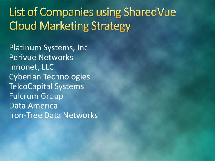List of Companies using